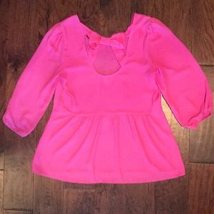 Pink Bow Back Blouse